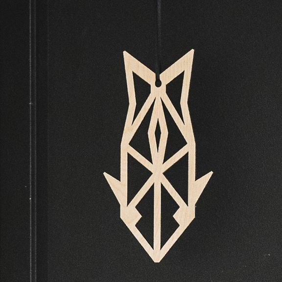 YO ZEN, home, classics, lohi, salmon, window decoration, ikkunakoriste, vaneri, veneer,