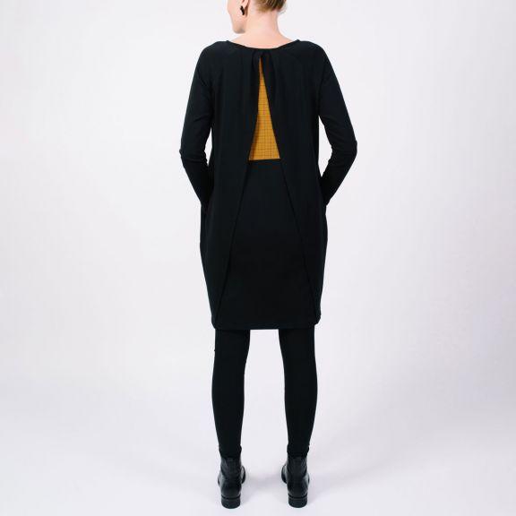 Naisten ARCHITECT -mekko, musta/millimetri