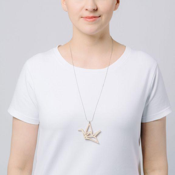 ORIGAMI Swan -kaulakoru, koivu