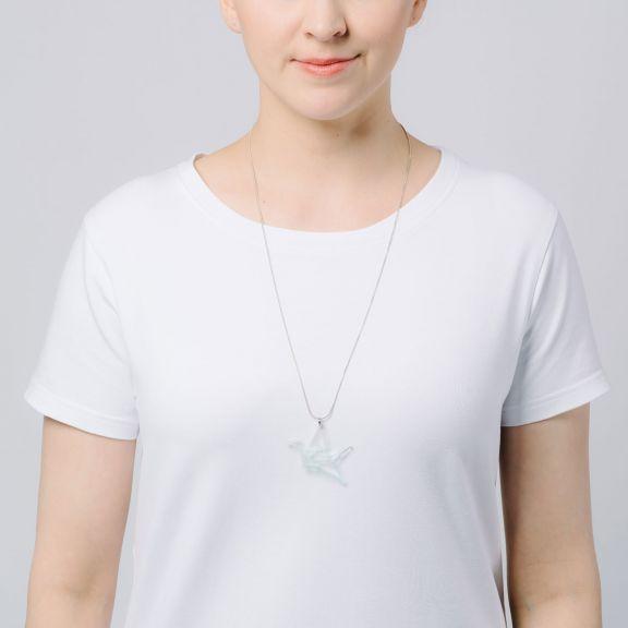 ORIGAMI Print Swan -minikaulakoru, kirkas/minttu liukuväri