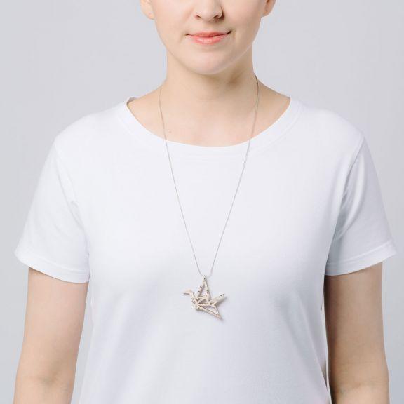 ORIGAMI Print Swan -minikaulakoru, Tuohi