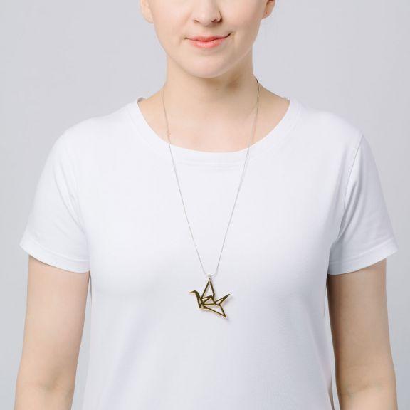 ORIGAMI Swan -minikaulakoru, kultapeili