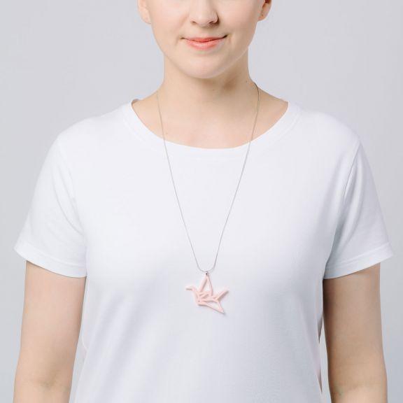 ORIGAMI Swan -minikaulakoru, vaaleanpunainen