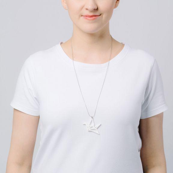 ORIGAMI Swan -minikaulakoru, valkoinen