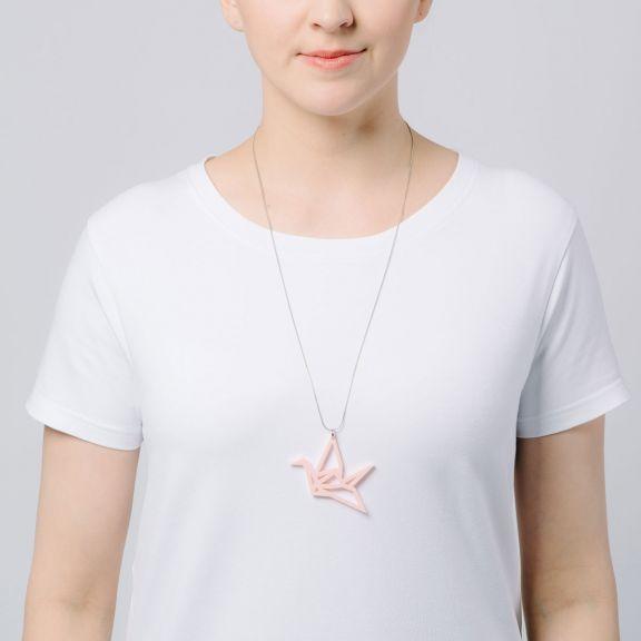 ORIGAMI Swan -kaulakoru, vaaleanpunainen