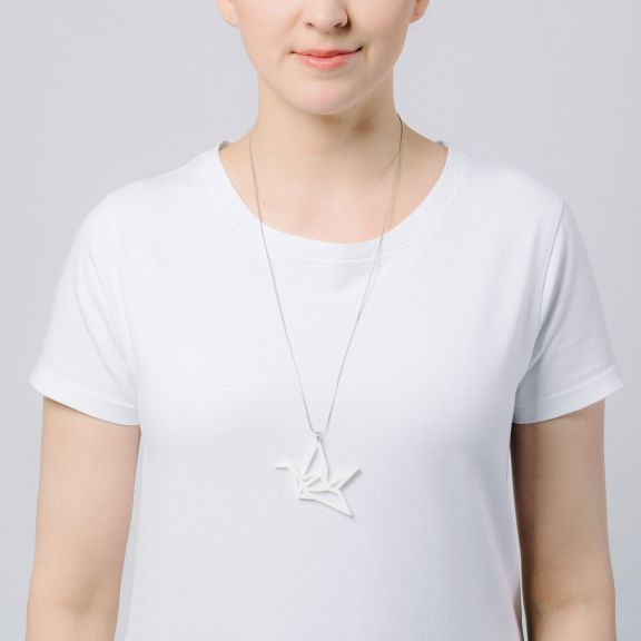 ORIGAMI Swan -kaulakoru, valkoinen