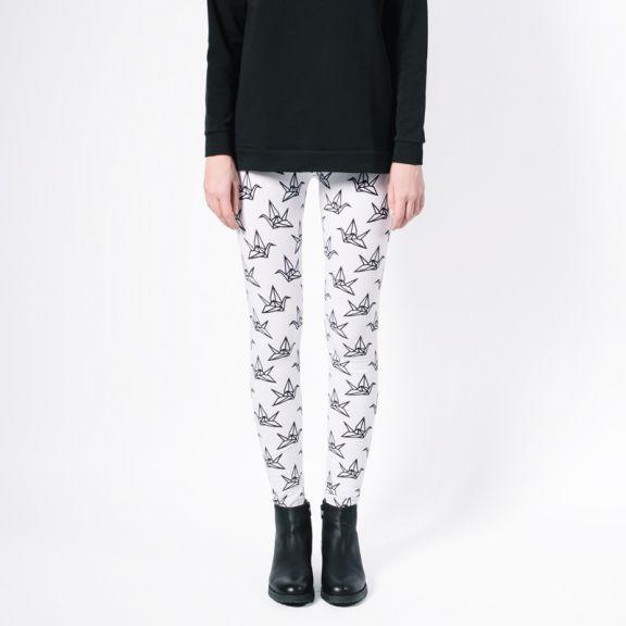 Naisten YO ZEN -leggingsit, valkoinen/musta